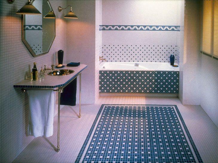 Carrelage Mosaique Pour Salle De Bain Blanc Et Bleu Antiderapant Et Anti Tache Carrelage Salle De Bain Salle De Bain Blanche Salle De Bain Marocaine