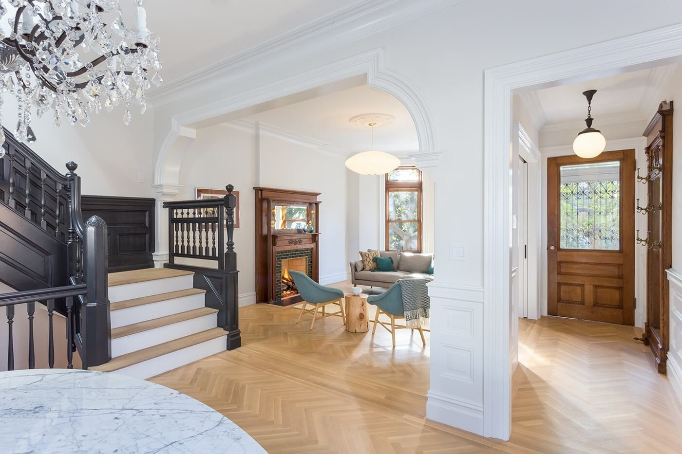 The Insider Total Gut Reno Restores Neglected Prospect Lefferts Limestone Details And All Brooklyn House House Design Interior