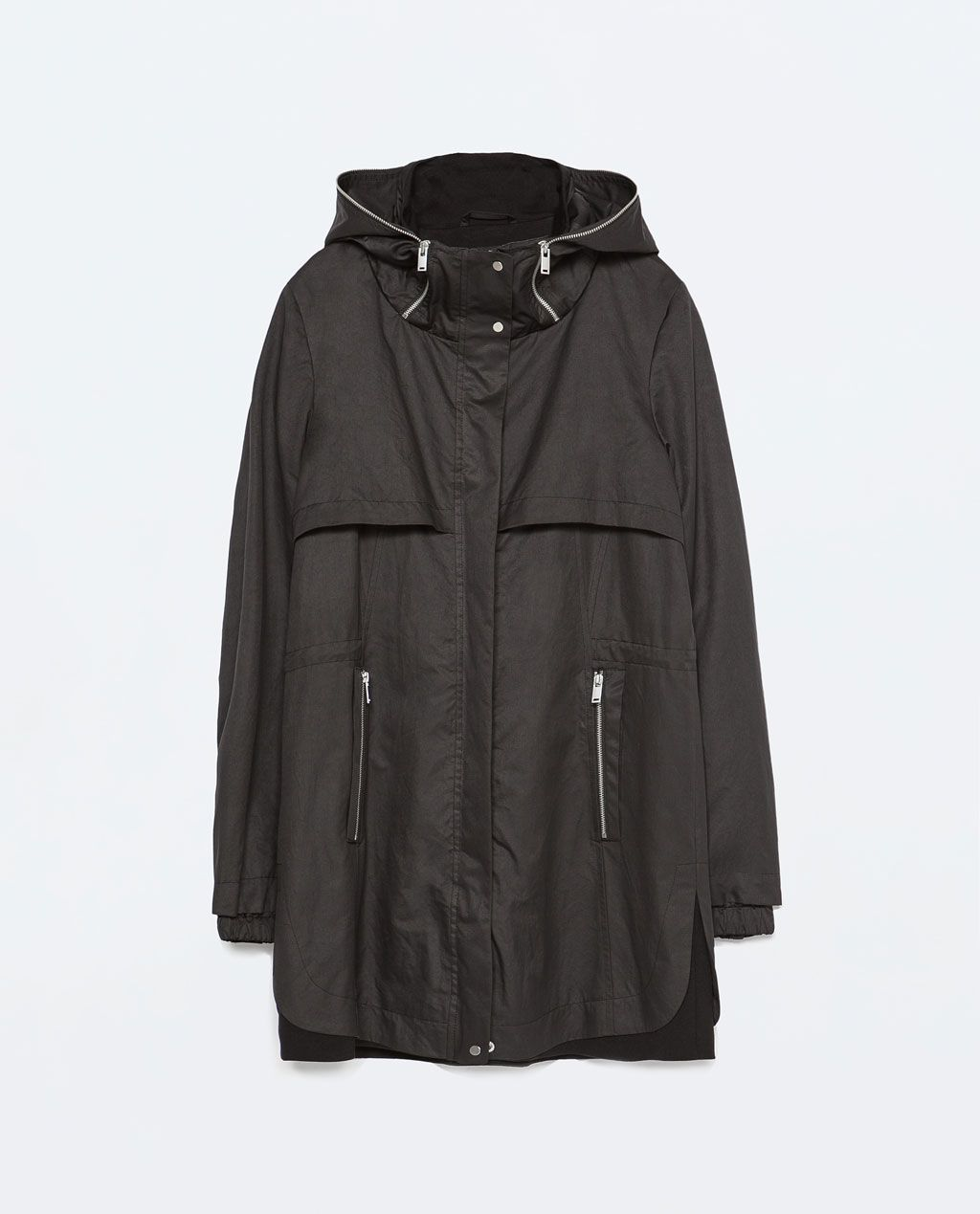 ZARA - NEW THIS WEEK - COMBINED KNIT ZIPPED PARKA