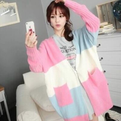 Korea sweet candy color sweater coat | Tops | Pinterest | Korea ...