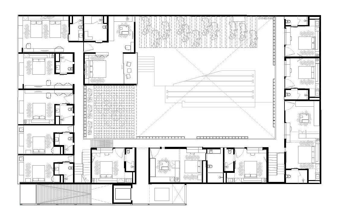 Galer a de hotel carlota jsa 13 hoteles planos y for Arquitectura de hoteles