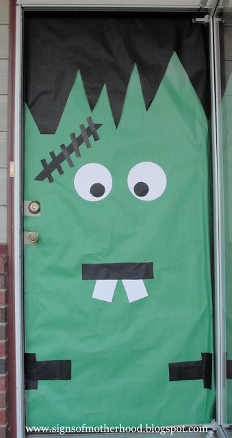 Signs of Motherhood Halloween Door Decorations School Ideas - pinterest halloween door decor