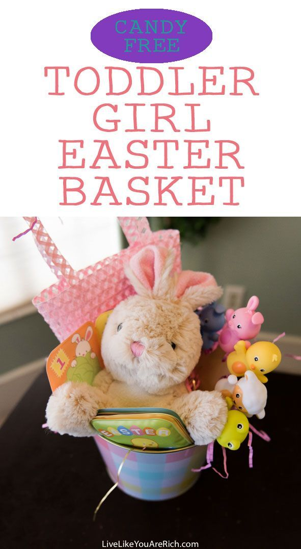 Candy free easter basket for a toddler girl basket ideas easter other fun candy free basket ideas are at the bottom of this post negle Choice Image