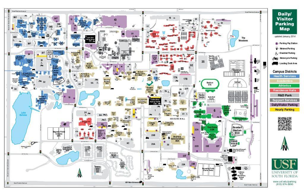 Bobby Caples - USF Visitor Map by Bobby Caples via slideshare
