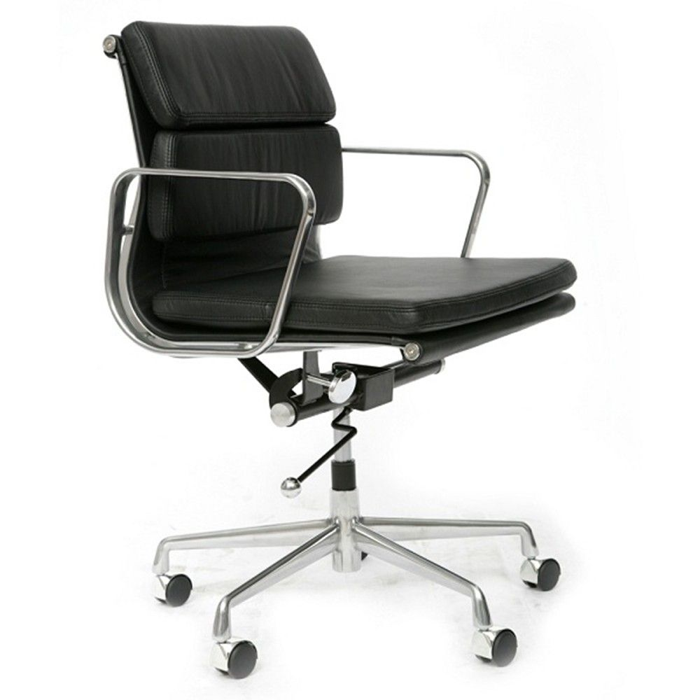 Soft Pad Leather Office Chair Black Office Chair Black Office Chair Modern Office Chair