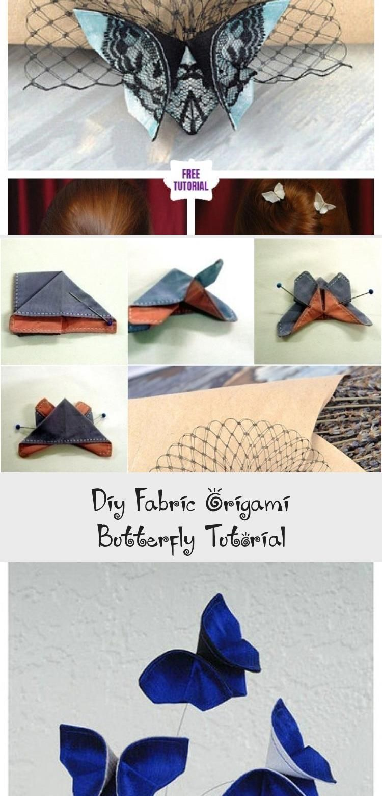 Photo of DIY Fabric Origami Butterfly Tutorial #origamiDrawing #origamiOiseau #origamiMob…