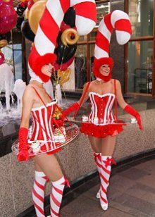 The Candy Canes - Human Canapé Trays - Lancashire