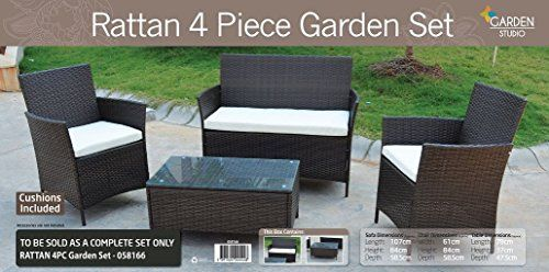 rattan garden chairs only uk tall shower chair hk furniture set brown sofa table outdoor patio conservatory