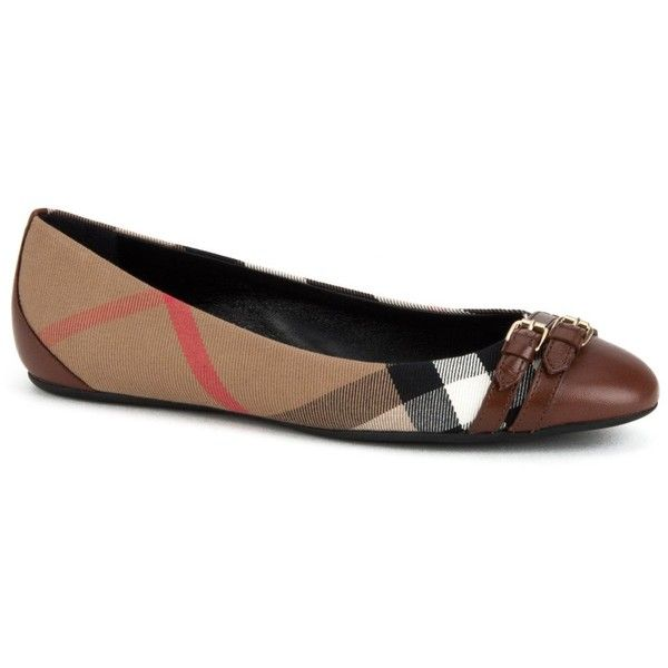 d3aadd4e8d8 Burberry Flat Shoes ( 270) ❤ liked on Polyvore featuring shoes ...