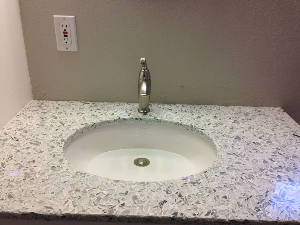 Countertop Eco Crush Winter Sink Kohler Caxton Faucet American