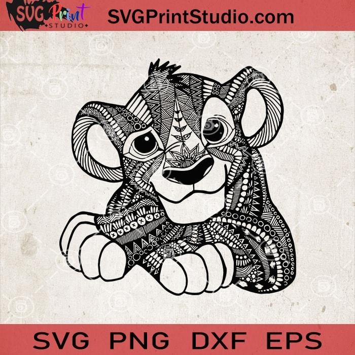 Download Lion King Mandala SVG, Simba Zentangle Mandala SVG, Disney ...