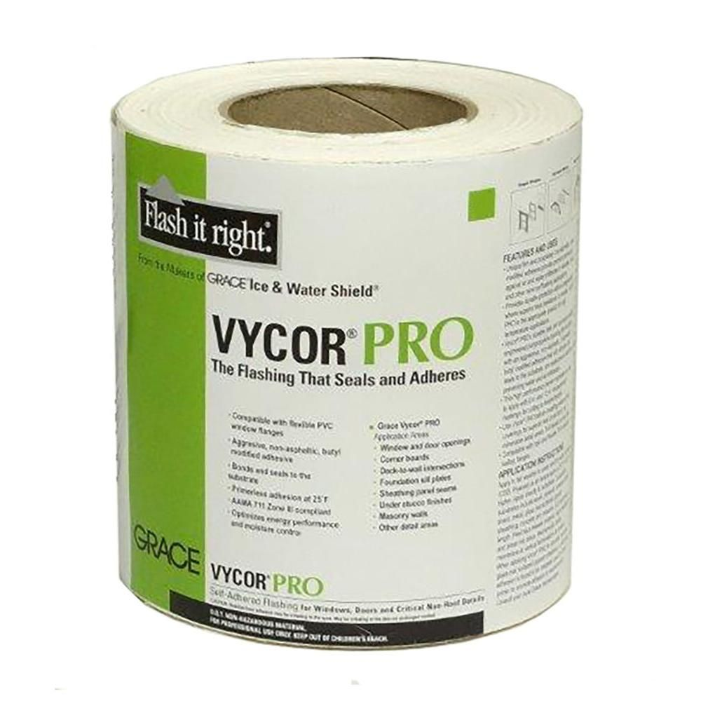 "Grace Vycor Plus Self-Adhered Flashing Tape 9/"" x 75/'"