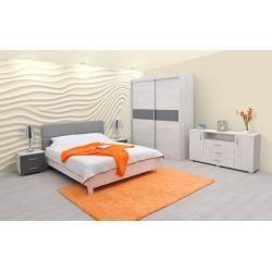 Schlafzimmer Komplett Set P Bermeo, 5teilig, teilmassiv
