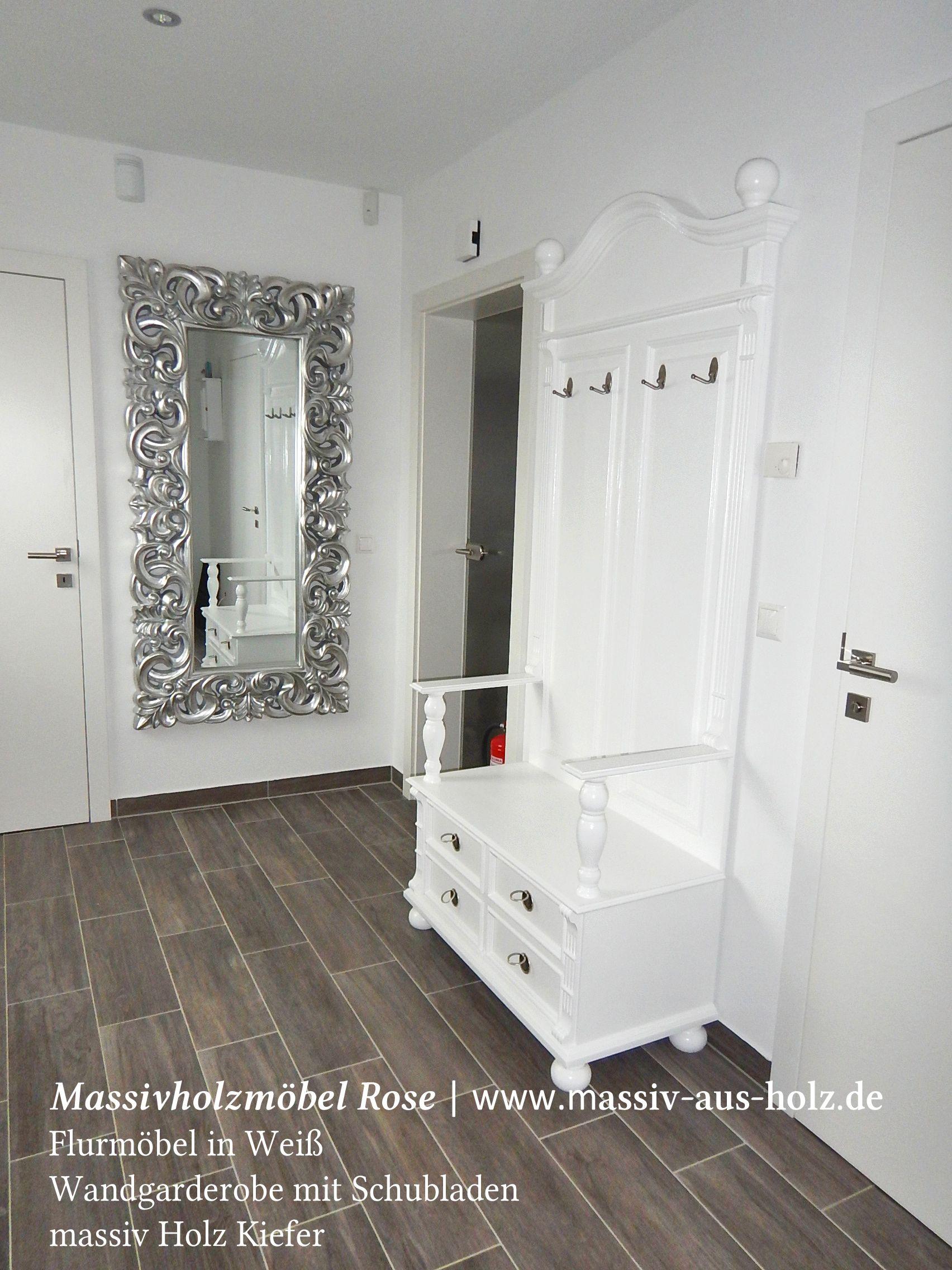 Fur Alle Landhaus Verliebte Weisse Garderobe Mit Schubladen Im
