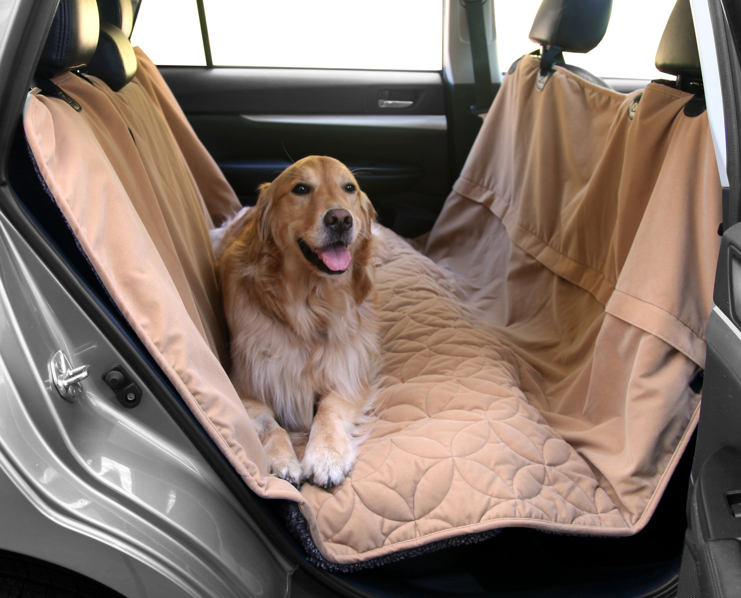 Floppy ears design waterproof microfiber zippered pet hammock seat
