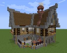 Runiya Medieval Blacksmith   Medieval houses, Minecraft ...