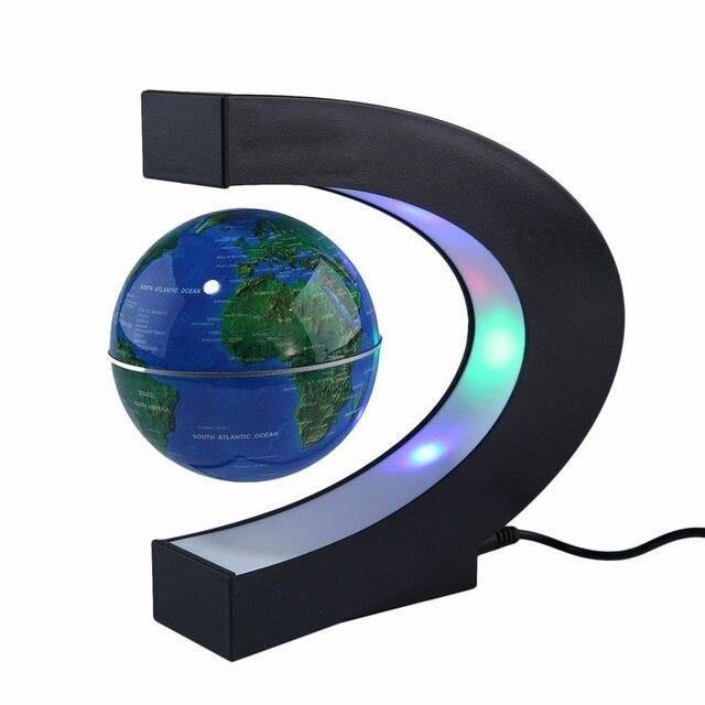 Magnetic Levitation Earth - Blue Shape / UK Plug