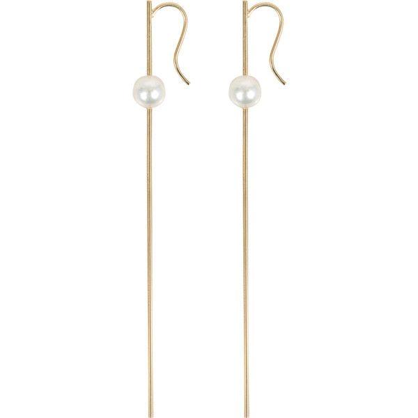 Straight Wire Pearl earrings Mizuki 7WInp2d