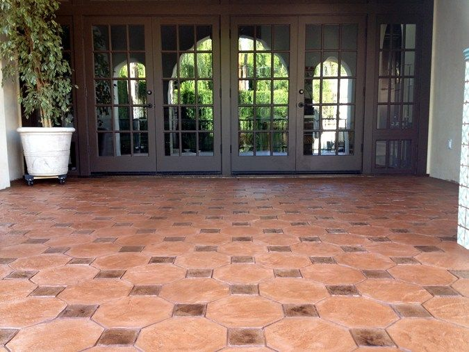 Stamped Patio Spanish Tile Pattern Stamped Concrete Stamp My