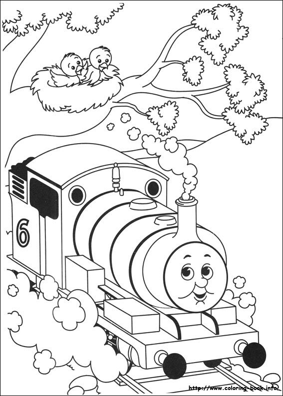 percy the train coloring pages - Thomas The Train Coloring Book