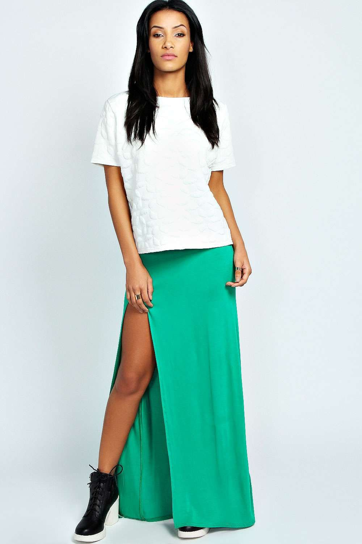 d4f0f7ccf0 Green Split Maxi Skirt | Huston Fislar Photography