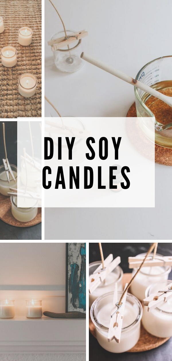 How to Make Soy Candles with Essential Oils | Diy soy ...