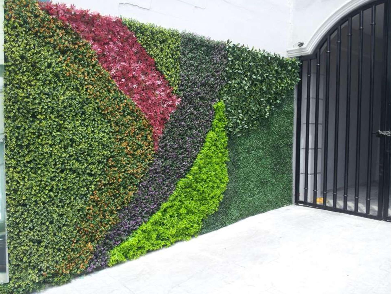 Fabricados en material pvc dando como resultado elementos - Como hacer un muro verde ...