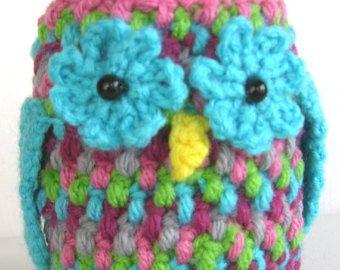 Crochet Owl Cozy Tin Can Mason Jar PDF Pattern