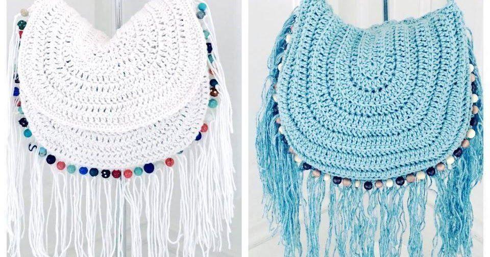Crochet Festival Beaded and Fringed Handbag By Annoo Crochet Designs ...