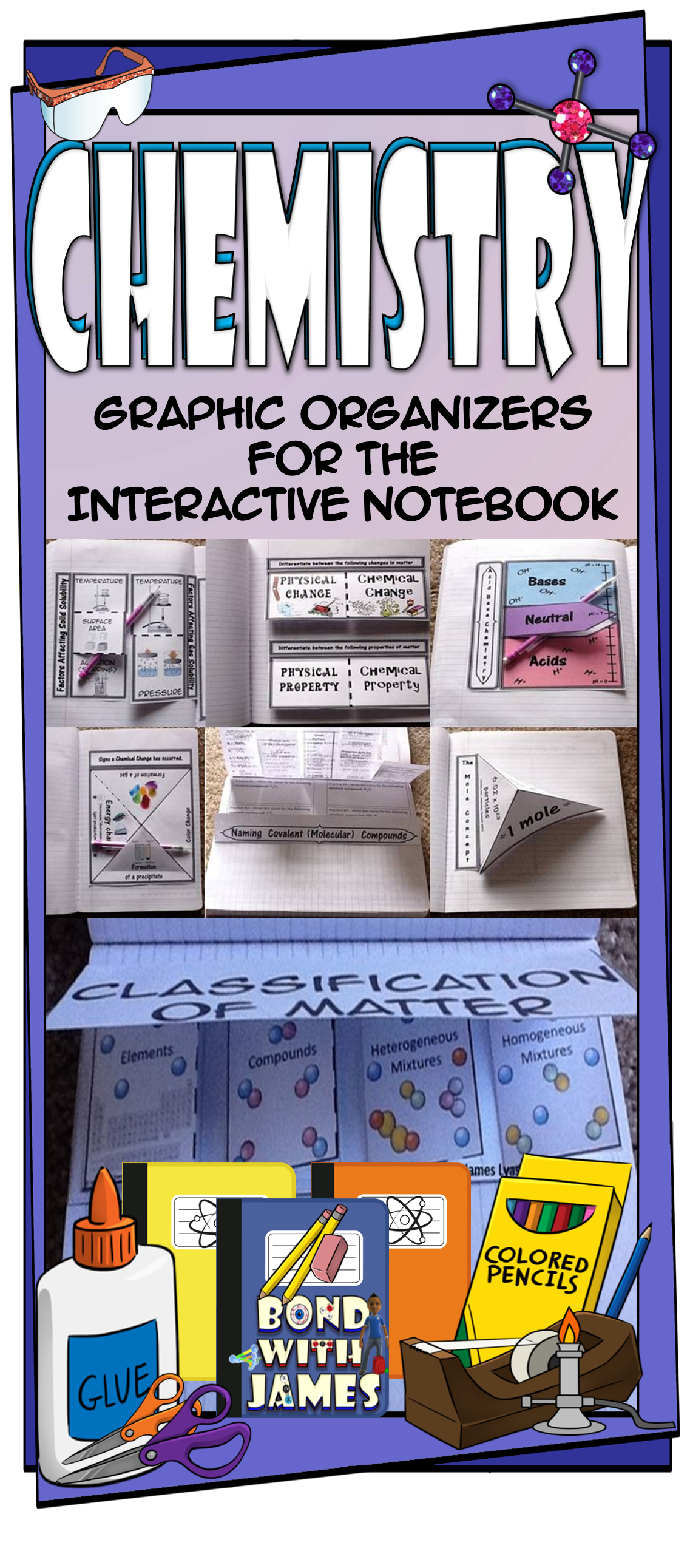 Chemistry Graphic Organizers For The Interactive Notebook General