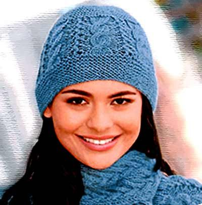 Вязание детских шапок по косой