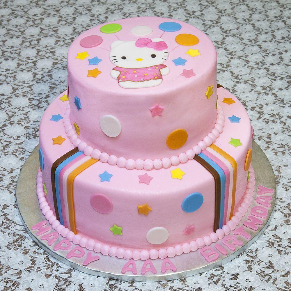Image For Hello Kitty Birthday Cake For Three Girls