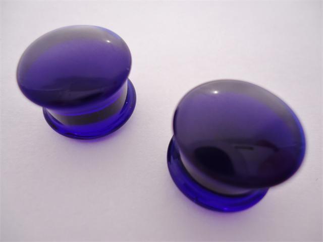 Gorilla Glass Solid Cobalt Blue Plugs 8 Gauge 1 2 Inch Pendientes Expansores Expansores