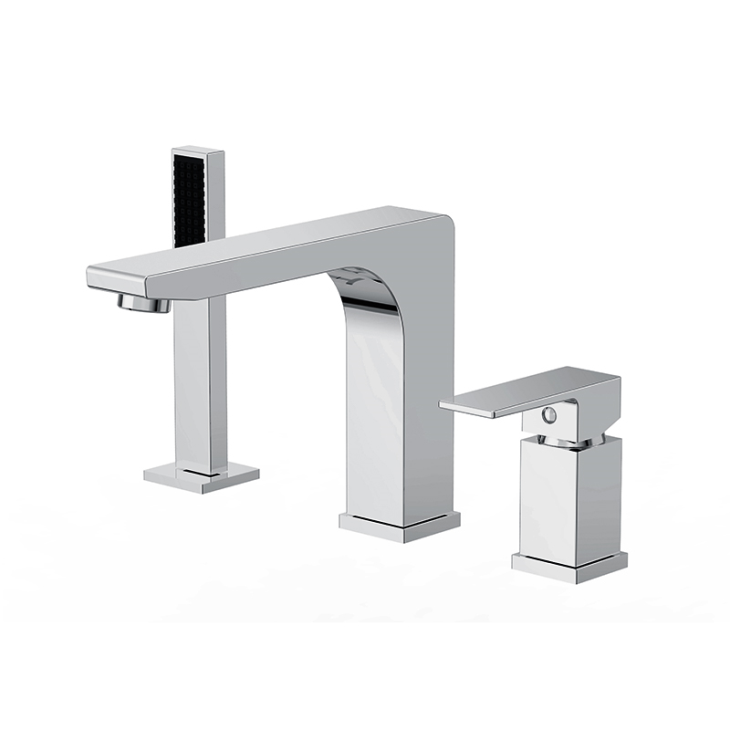 3 Hole Deck Mount Bathroom Roman Bath Tub Faucets Fixtures With