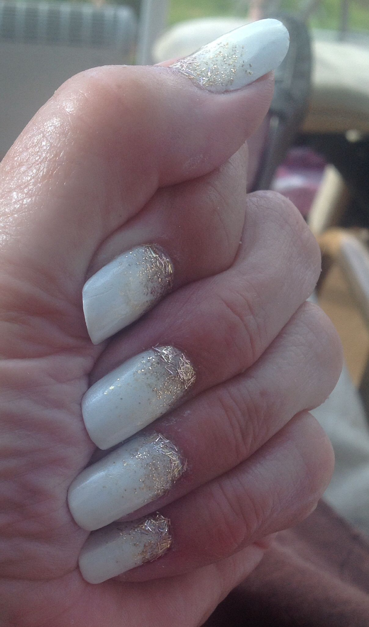 My latest nail painting. Following on from my lovely silver ...