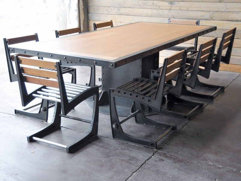 Modern industrial conference table best home design for Working table design ideas