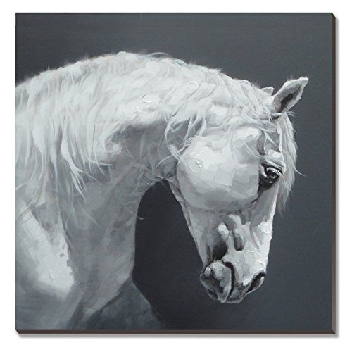 Cubism 100 Hand Painted Oil Painting On Canvas Gray Horse 30x30inch Unstretched No Frame Abstract Modern Art Wall Home Decoration For Living Room
