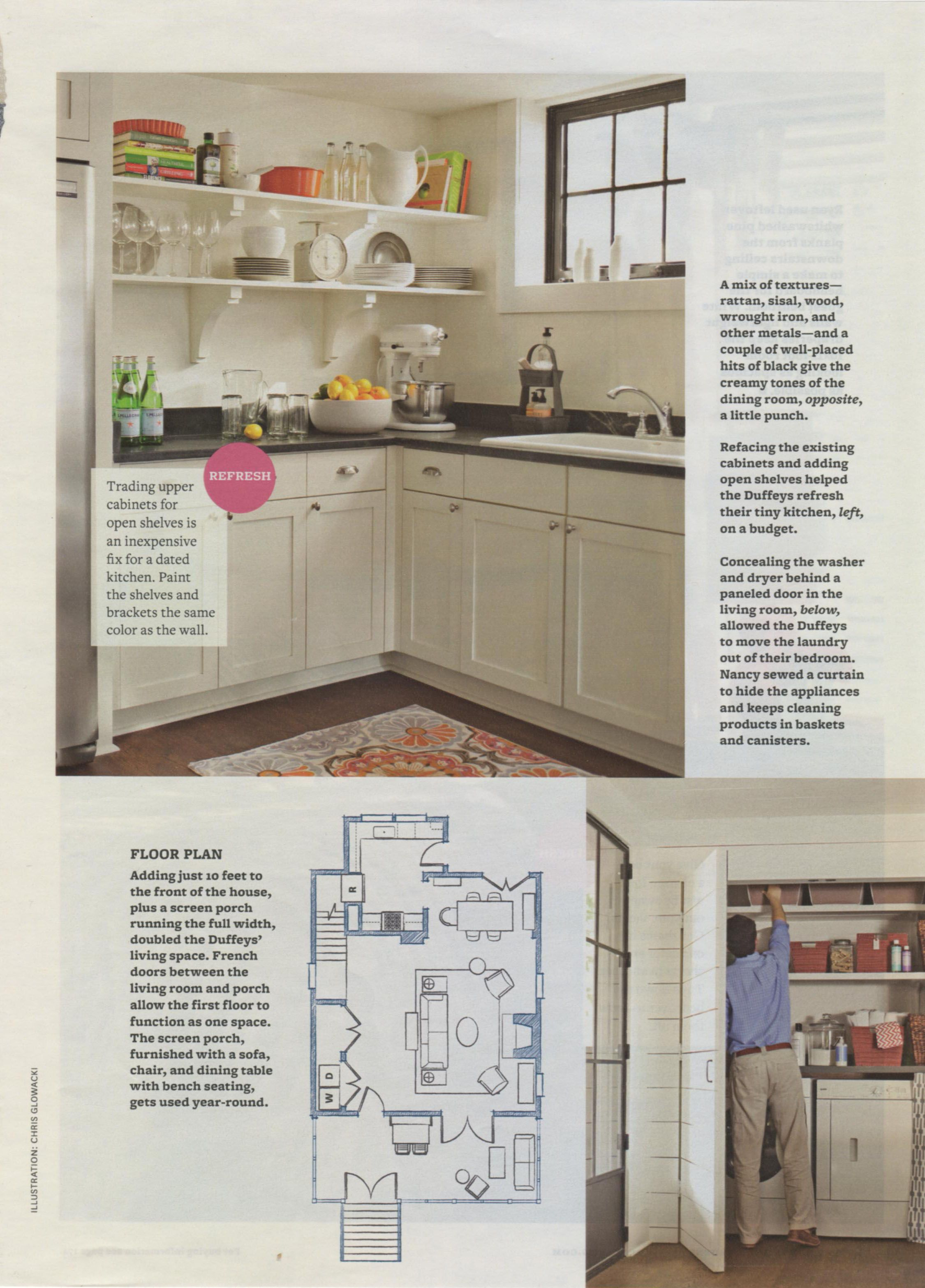 Article Featuring Our Home In Better Homes And Gardens Kitchen