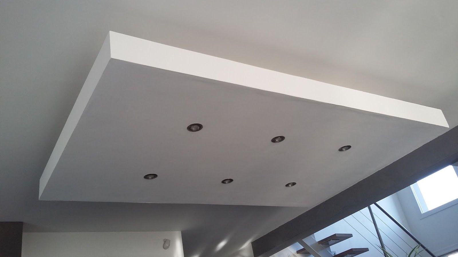 Décoration De Plafond En Platre concernant déroché plafond descendu suspendu ilot central decaissement design