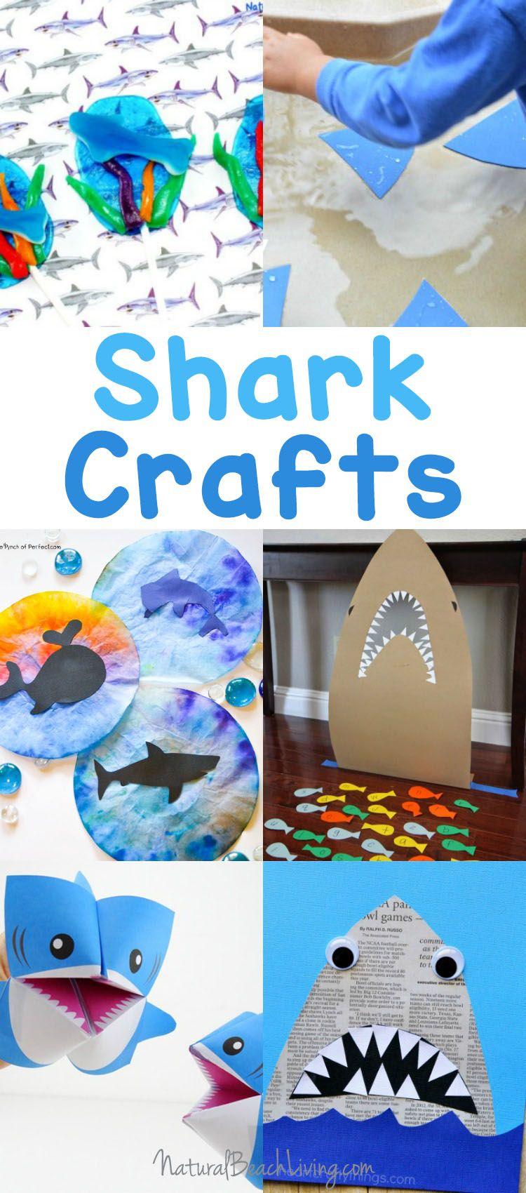 25 Shark Week Crafts And Activities For Kids Natural Beach Living Shark Week Crafts Shark Craft Shark Activities [ 1700 x 750 Pixel ]