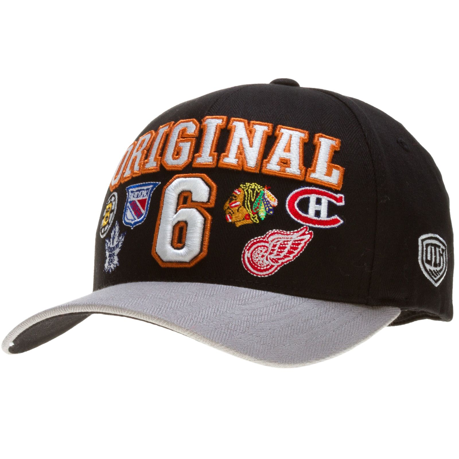 65f1d123657c27 Chicago Blackhawks Black and Grey Original 6 All Logos Flex Fit Hat by Old  Time Hockey #Chicago #Blackhawks #ChicagoBlackhawks #BostonBruins  #NewYorkRangers ...