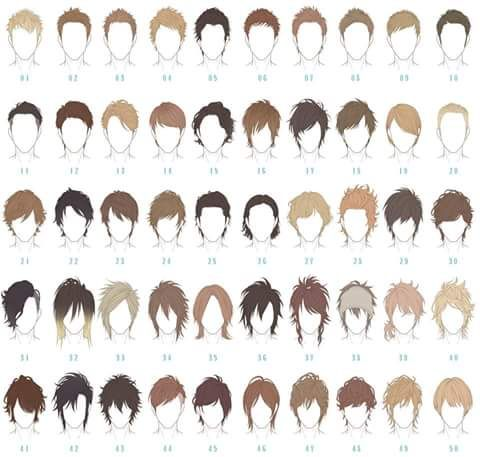 Cabello Hombre Dibujo De Pelo Dibujos De Peinados Dibujos De Hombres