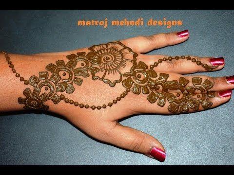 Mehndi Henna Designs : Stylish simple easy mehndi henna designs for beginners matroj