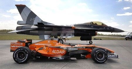 Spyker F1 Vs F16 Jet Fighter This Weekend Saw Spykers F8 Vii