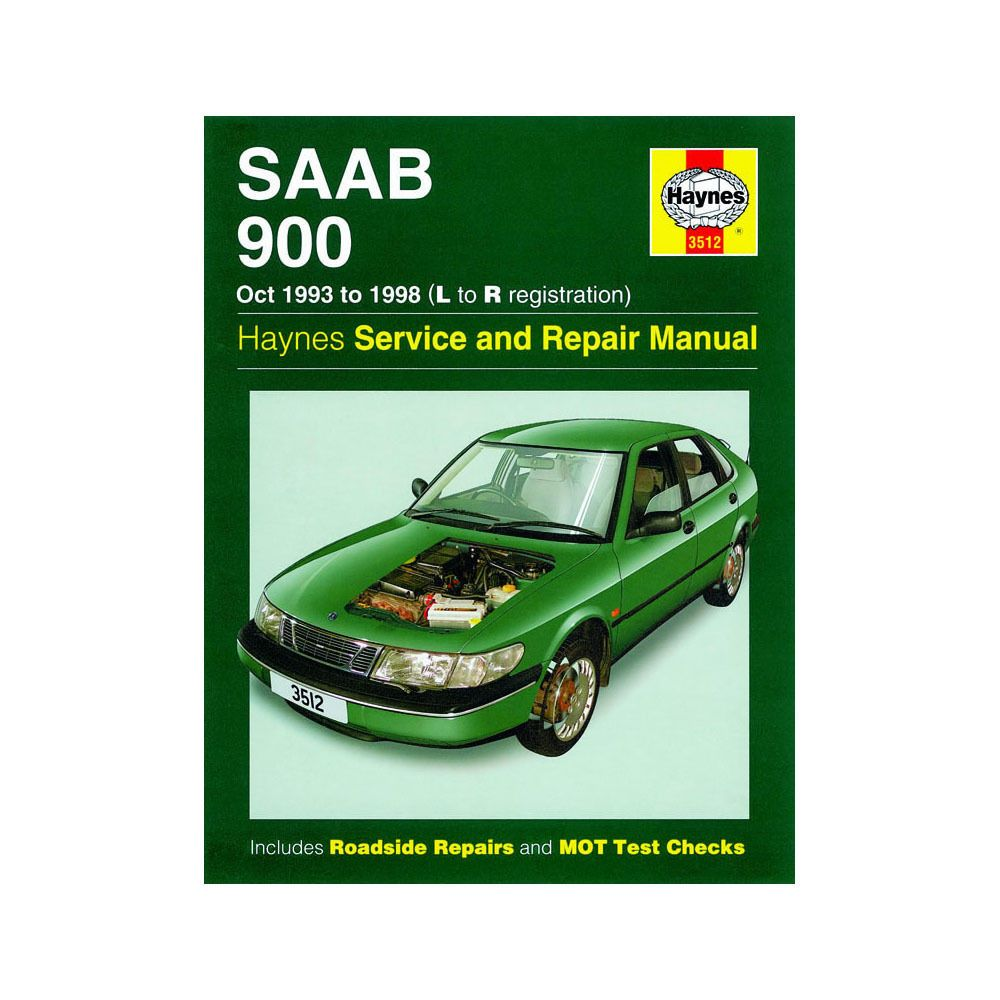 saab 900 2 0 2 3 petrol 1993 98 l to r reg haynes manual saab rh pinterest com 1995 saab 900 se repair manual 1995 Saab 900 Recalls