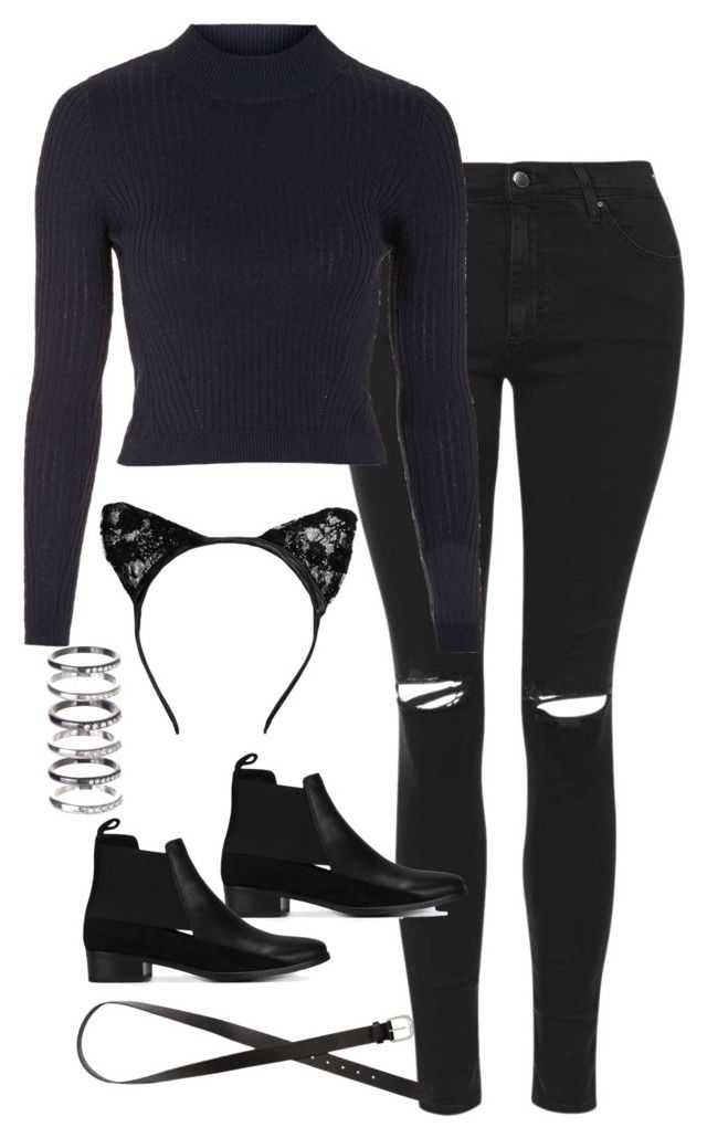 """""""Sin título #5200"""" by marym96 ❤ liked on Polyvore featuring Topshop, See by Chloé, M.N.G and H&M"""