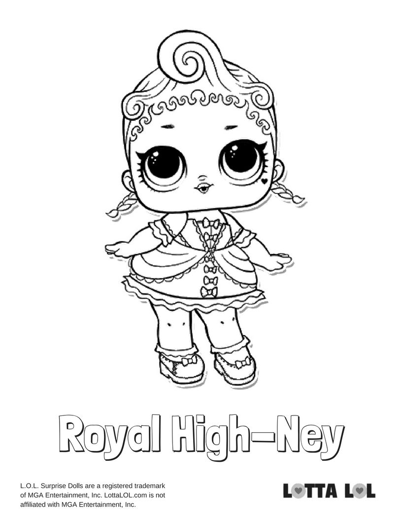 Lol Dolls Foxy Coloring Page