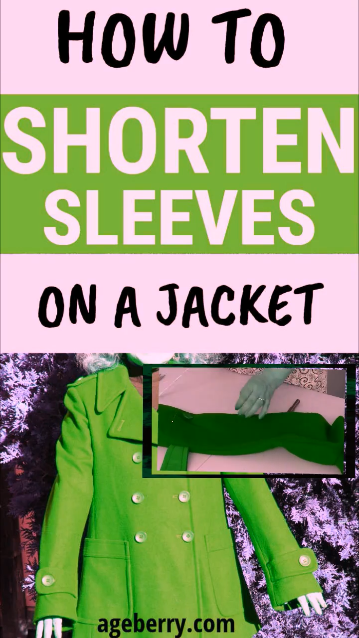 Clothing alterations: how to shorten sleeves on a winter coat or a jacket with