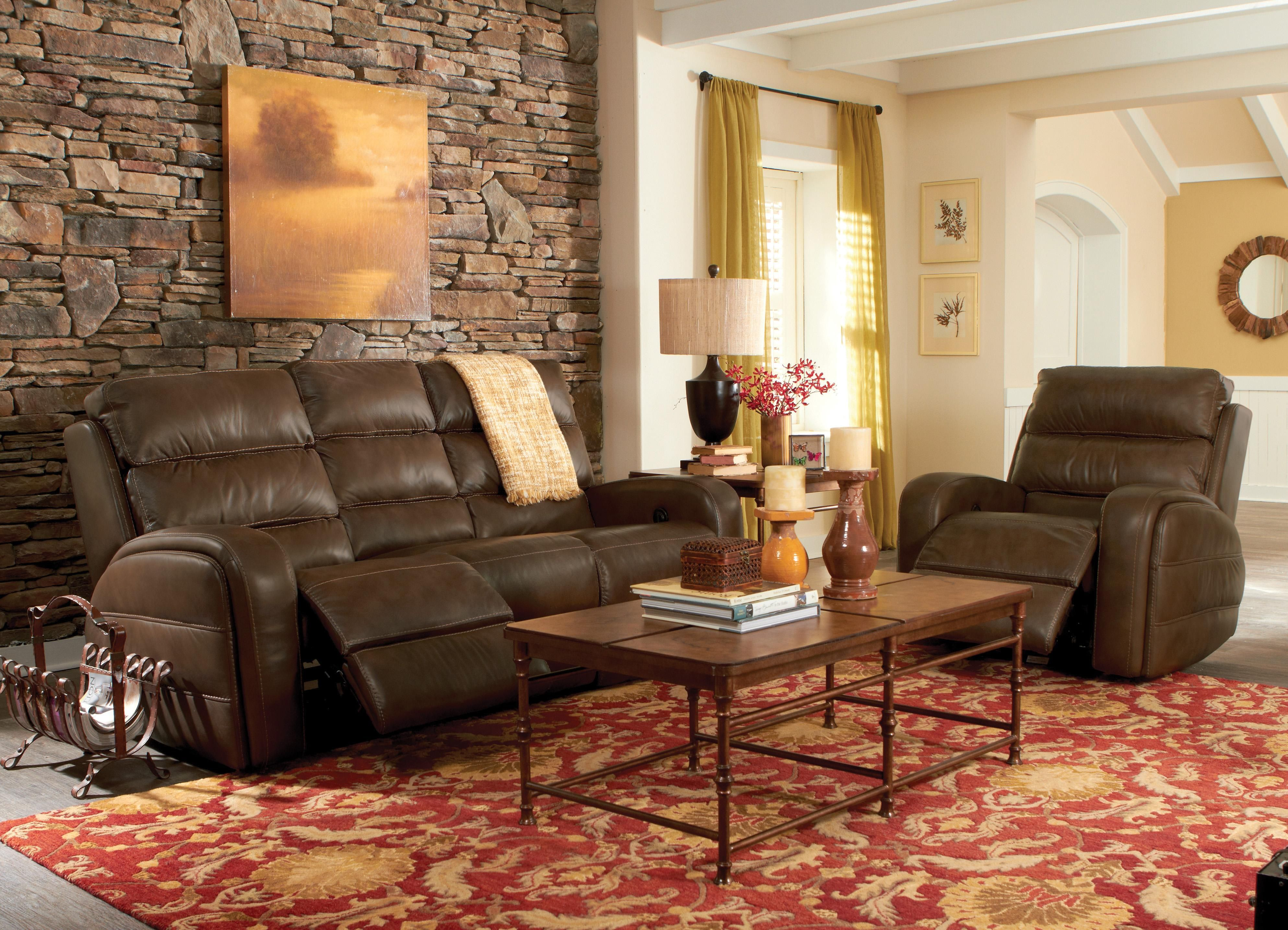 Flexsteel Latitudes Elliot Casual Power Reclining Sofa With Line
