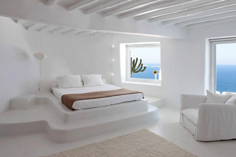 Villa per 13 persone a mykonos dise o nel 2019 for Casa moderna accogliente